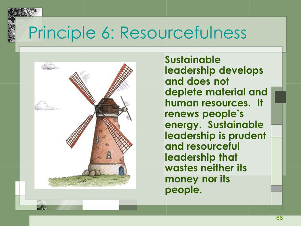 Principle 6: Resourcefulness