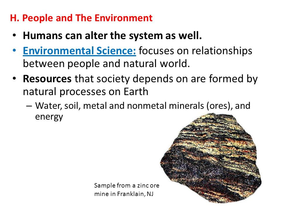 H. People and The Environment