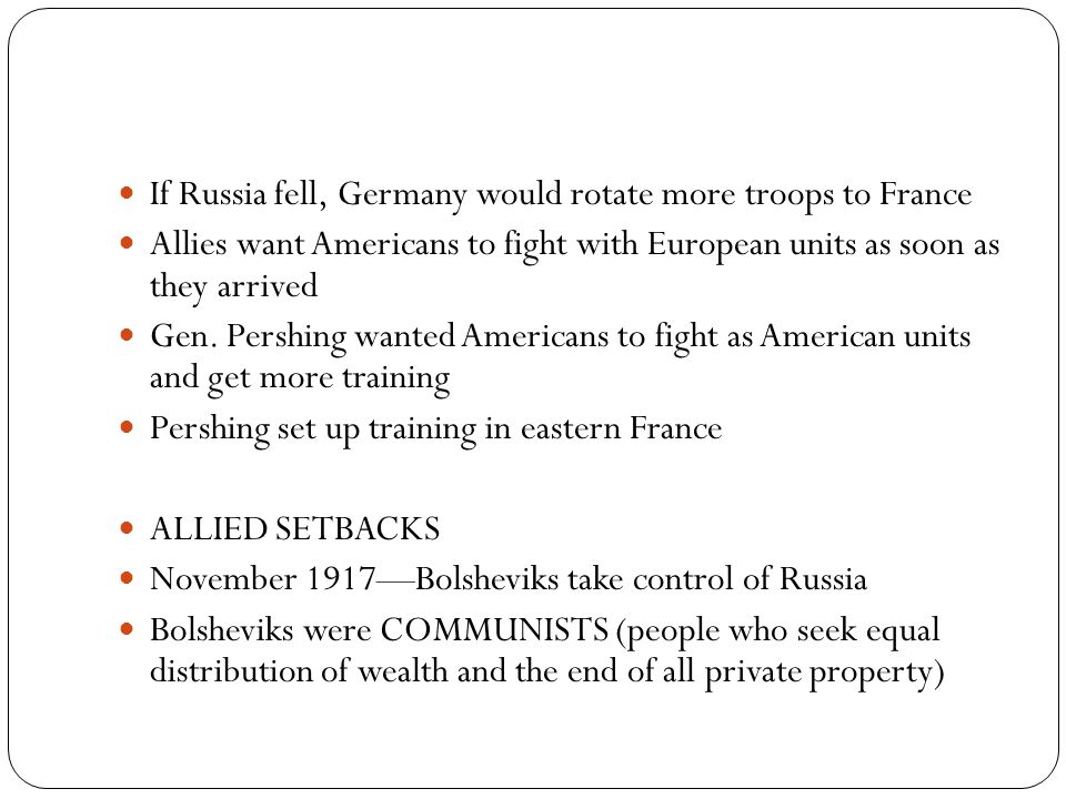 If Russia fell, Germany would rotate more troops to France
