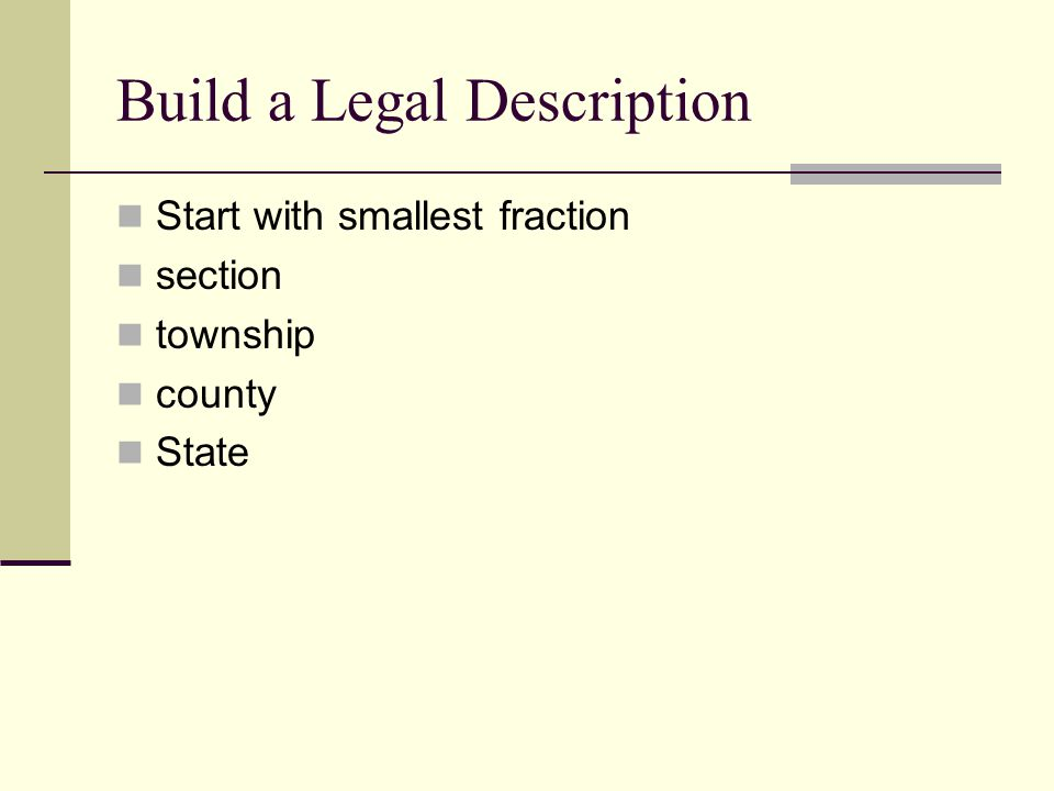 Build a Legal Description