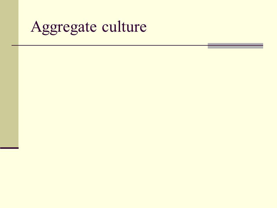 Aggregate culture