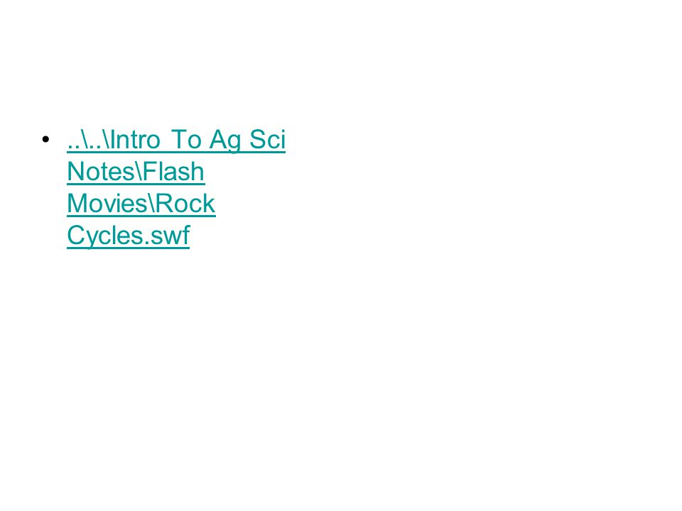 ..\..\Intro To Ag Sci Notes\Flash Movies\Rock Cycles.swf