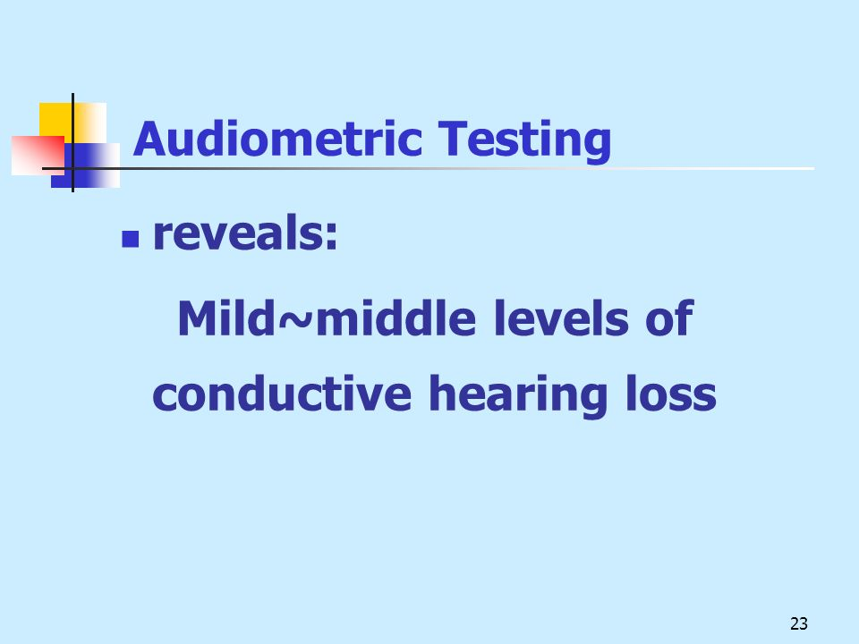 Audiometric Testing reveals: