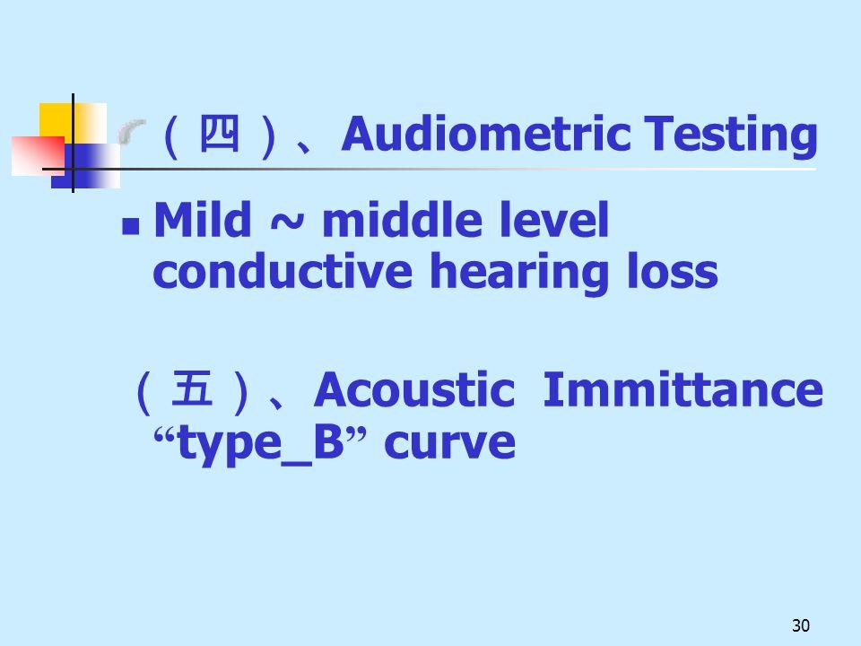 (四)、Audiometric Testing