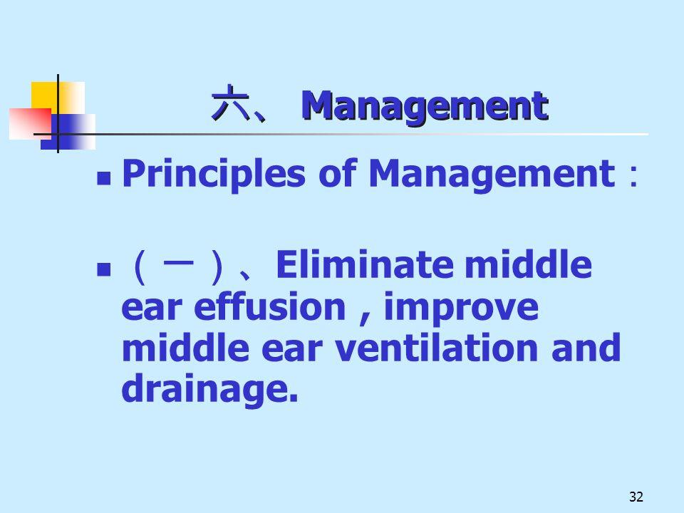 六、 Management Principles of Management: