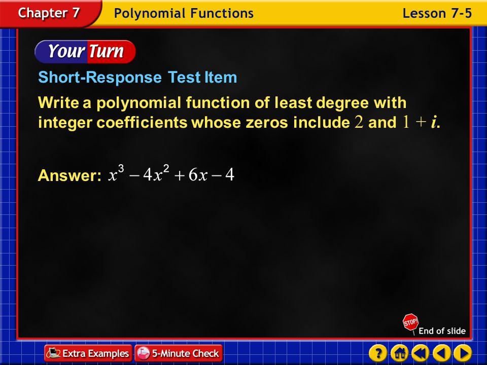 Short-Response Test Item