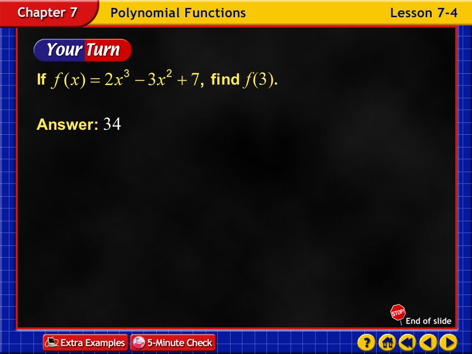 If find f (3). Answer: 34 Example 4-1c