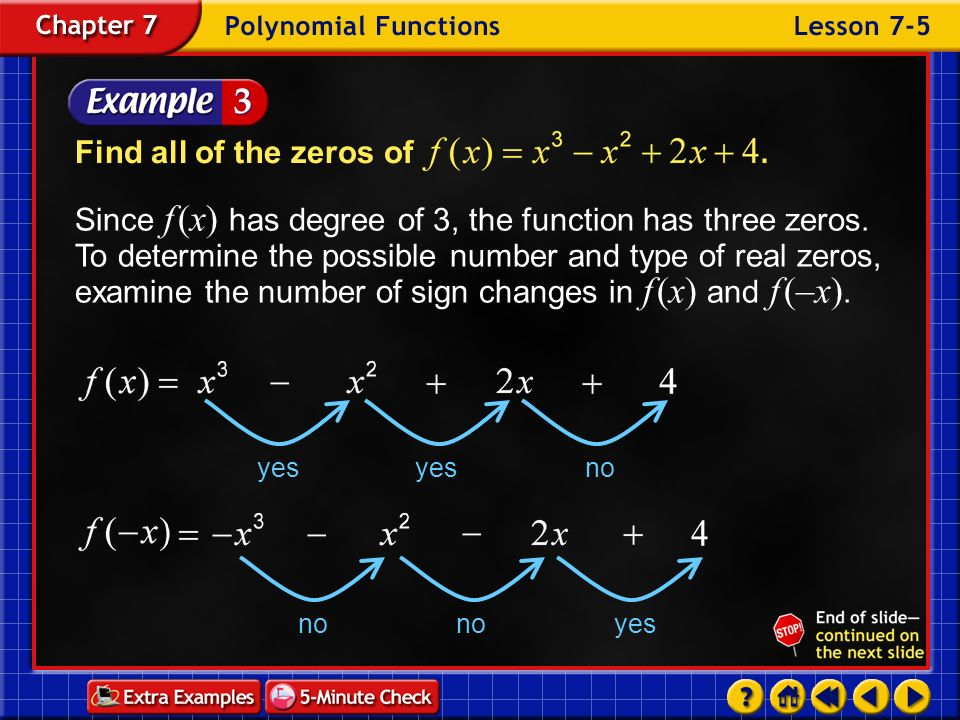 Find all of the zeros of