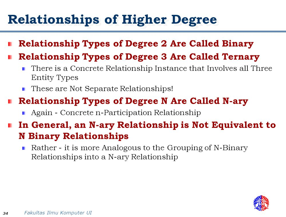 ary relationship types vs