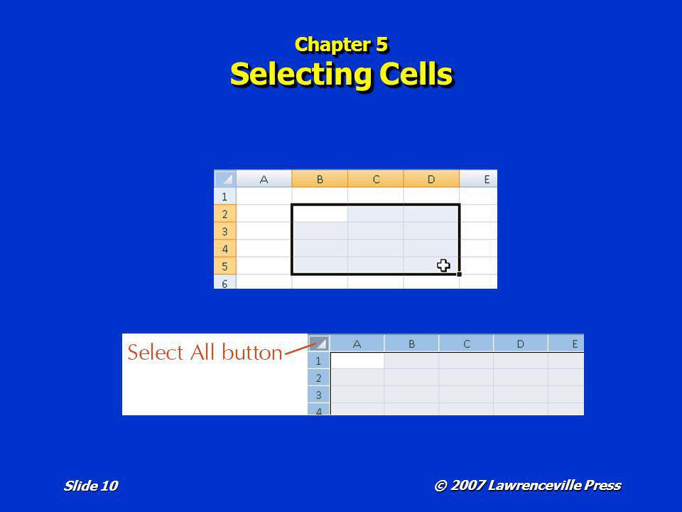 Chapter 5 Selecting Cells