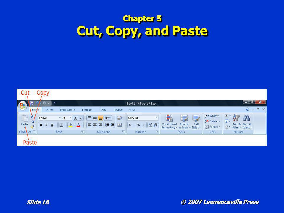Chapter 5 Cut, Copy, and Paste
