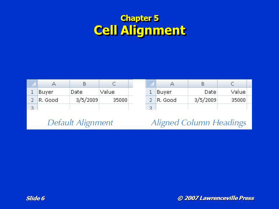 Chapter 5 Cell Alignment