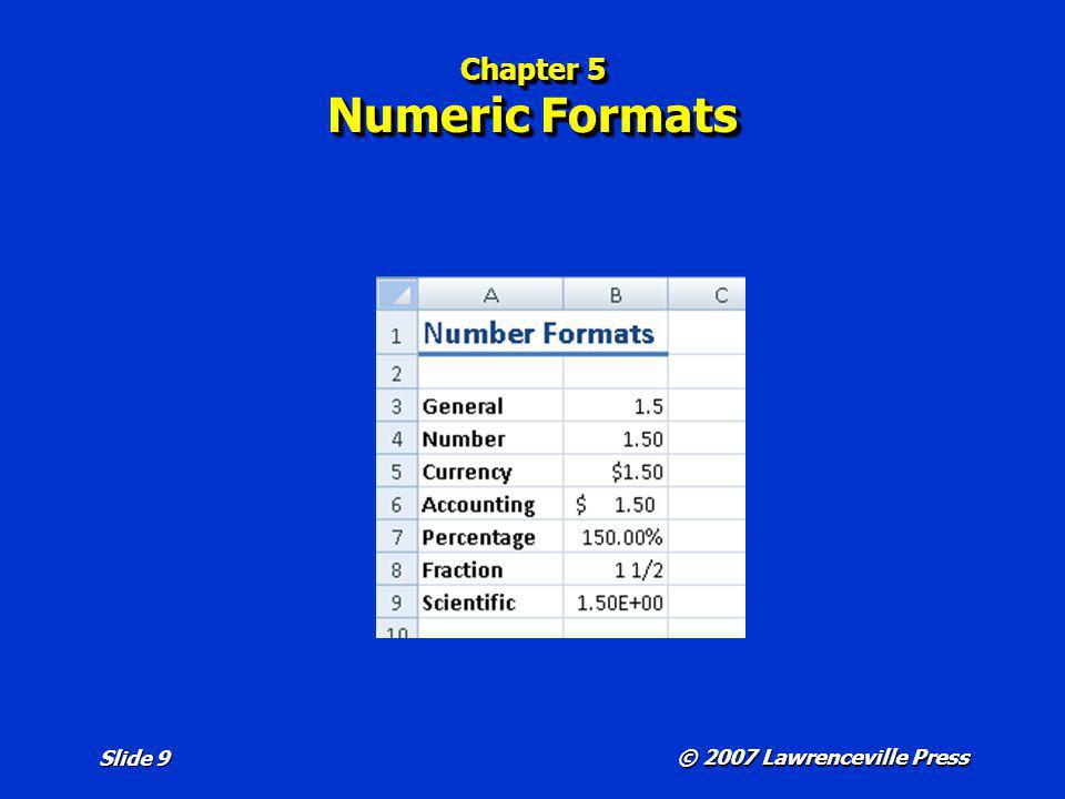 Chapter 5 Numeric Formats