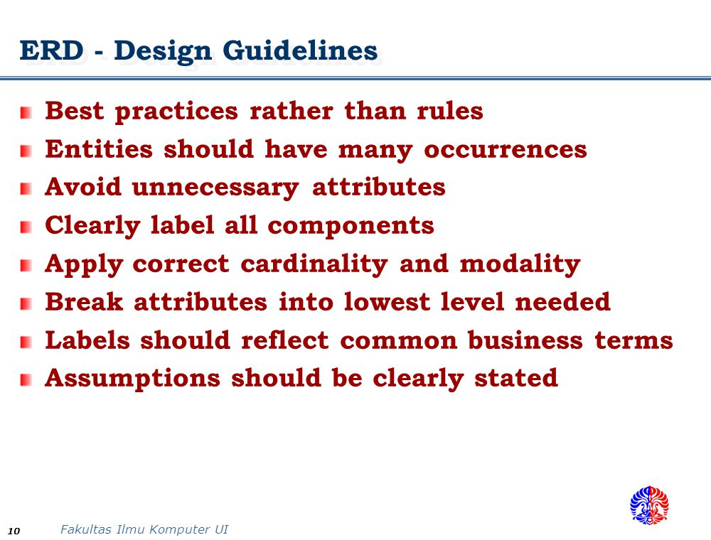 ERD - Design Guidelines