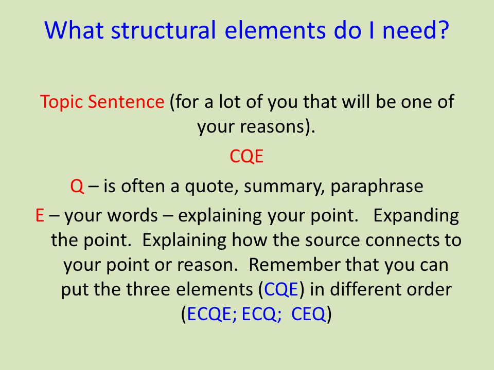 What structural elements do I need
