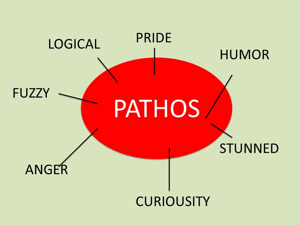 PATHOS PRIDE LOGICAL HUMOR FUZZY STUNNED ANGER CURIOUSITY