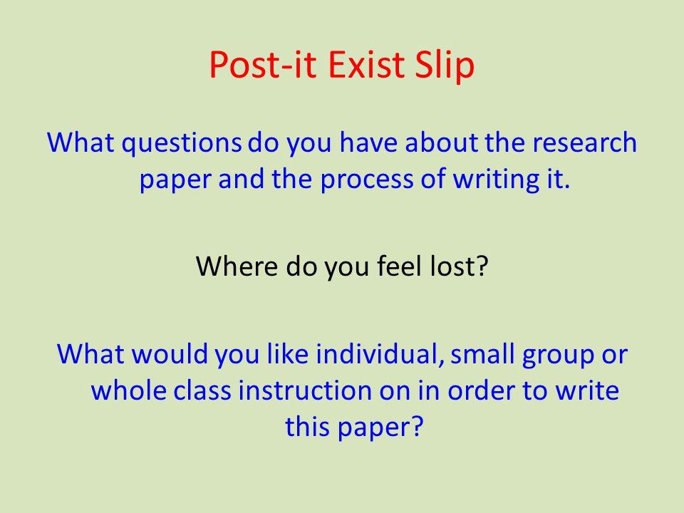 Post-it Exist Slip