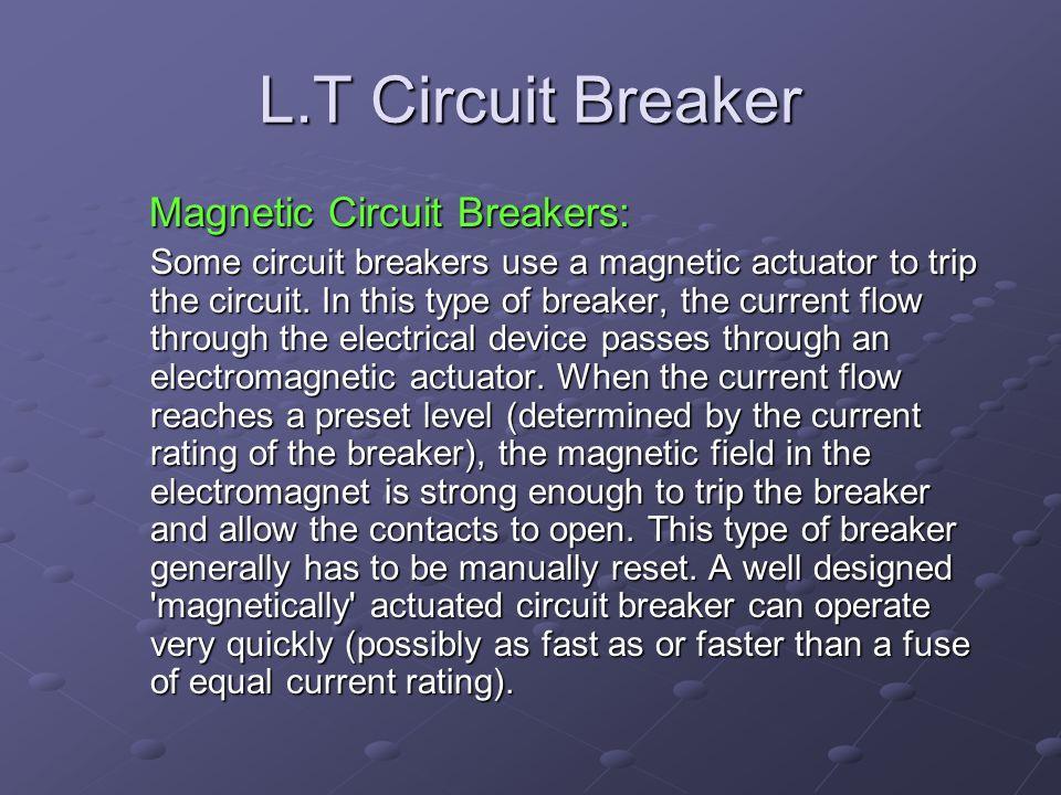 L.T Circuit Breaker Magnetic Circuit Breakers: