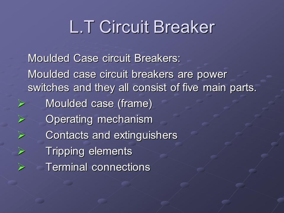 L.T Circuit Breaker Moulded Case circuit Breakers: