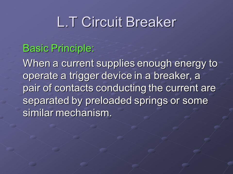 L.T Circuit Breaker Basic Principle:
