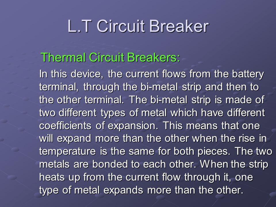 L.T Circuit Breaker Thermal Circuit Breakers: