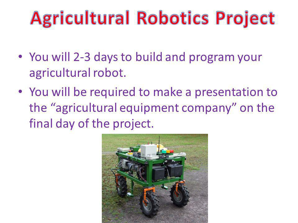 Agricultural Robotics Project