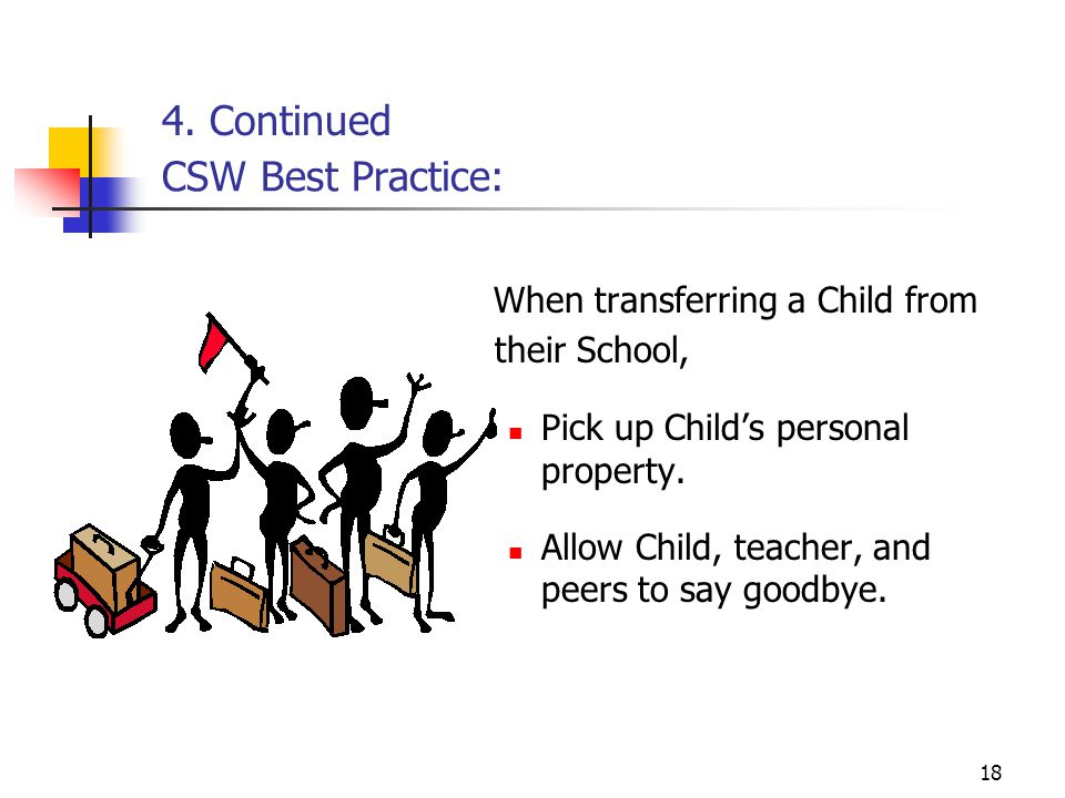 When transferring a Child from their School,
