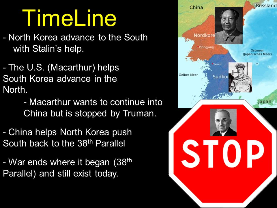 TimeLine - North Korea advance to the South with Stalin's help.