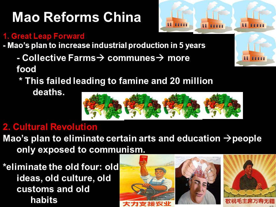 Mao Reforms China - Collective Farms communes more food