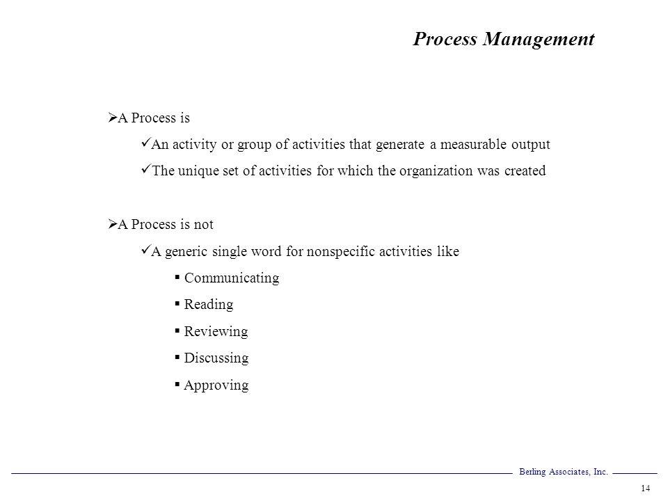 Process Management A Process is