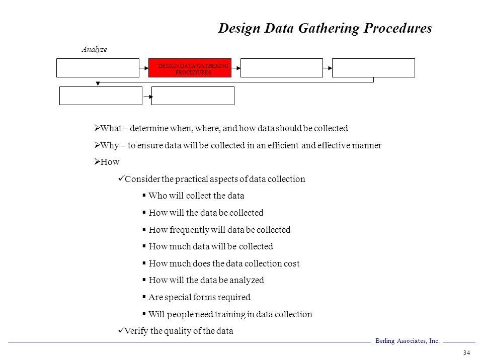 DESIGN DATA GATHERING PROCEDURES