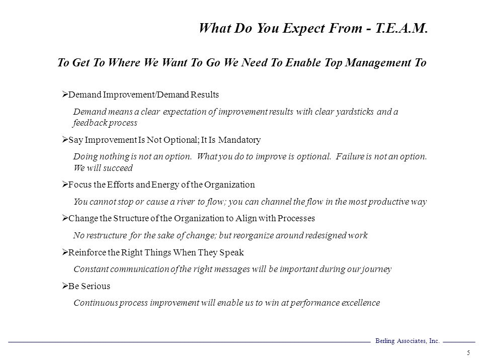 To Get To Where We Want To Go We Need To Enable Top Management To