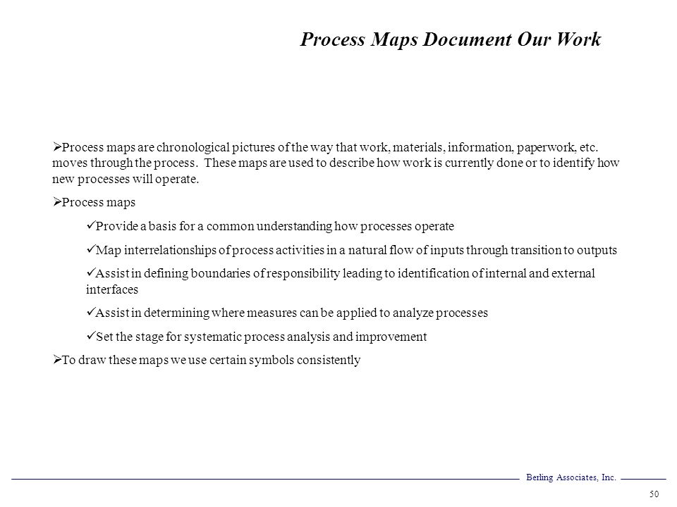 Process Maps Document Our Work