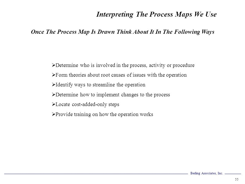 Once The Process Map Is Drawn Think About It In The Following Ways