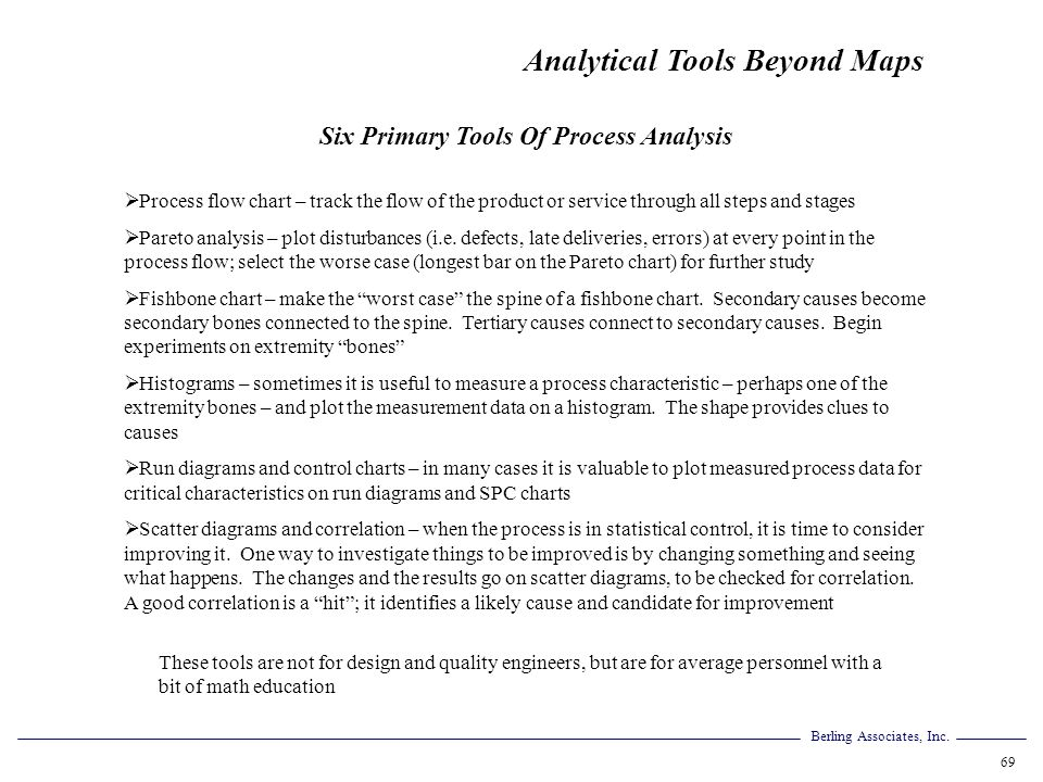 Six Primary Tools Of Process Analysis