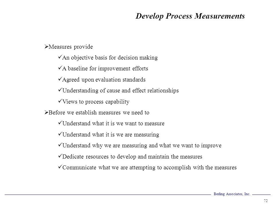 Develop Process Measurements