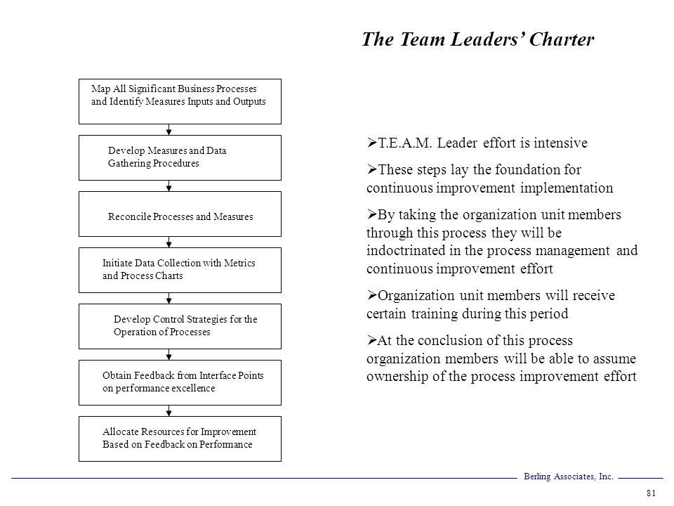 The Team Leaders' Charter