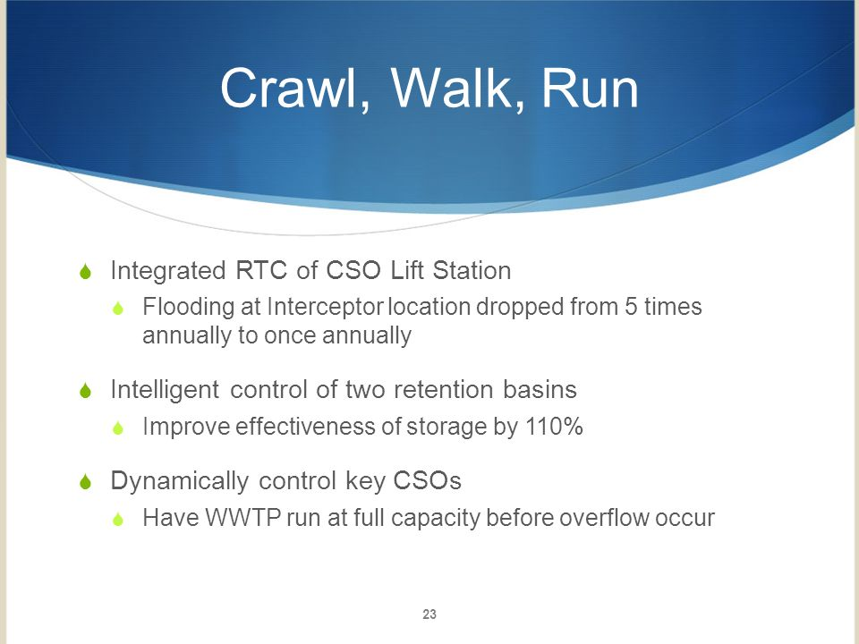 Crawl, Walk, Run Integrated RTC of CSO Lift Station