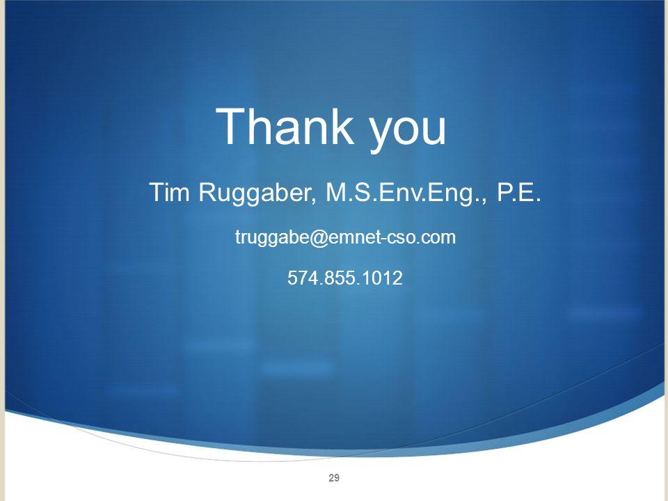 Tim Ruggaber, M.S.Env.Eng., P.E.
