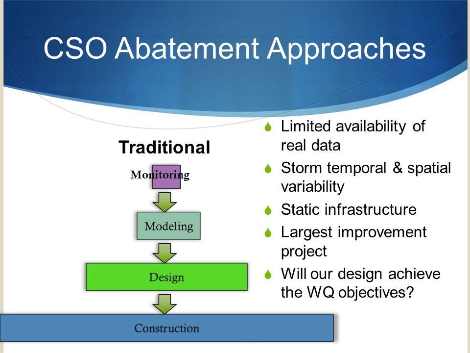 CSO Abatement Approaches