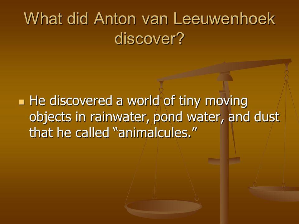 What did Anton van Leeuwenhoek discover