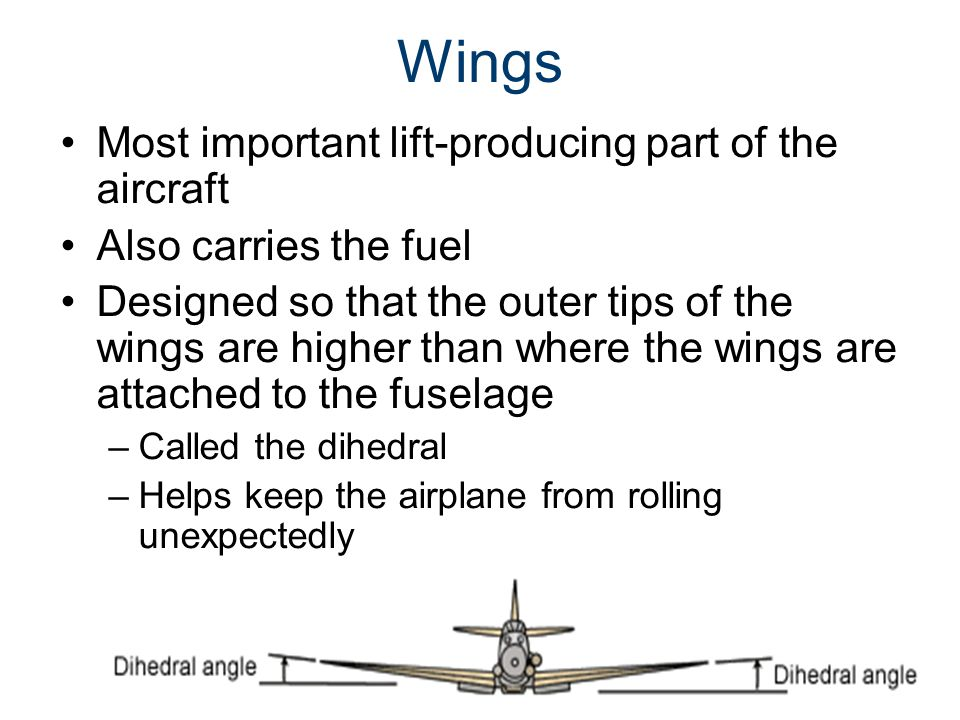 Wings Most important lift-producing part of the aircraft