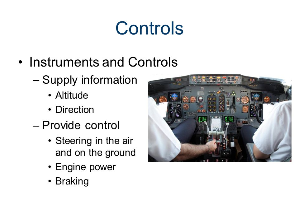 Controls Instruments and Controls Supply information Provide control