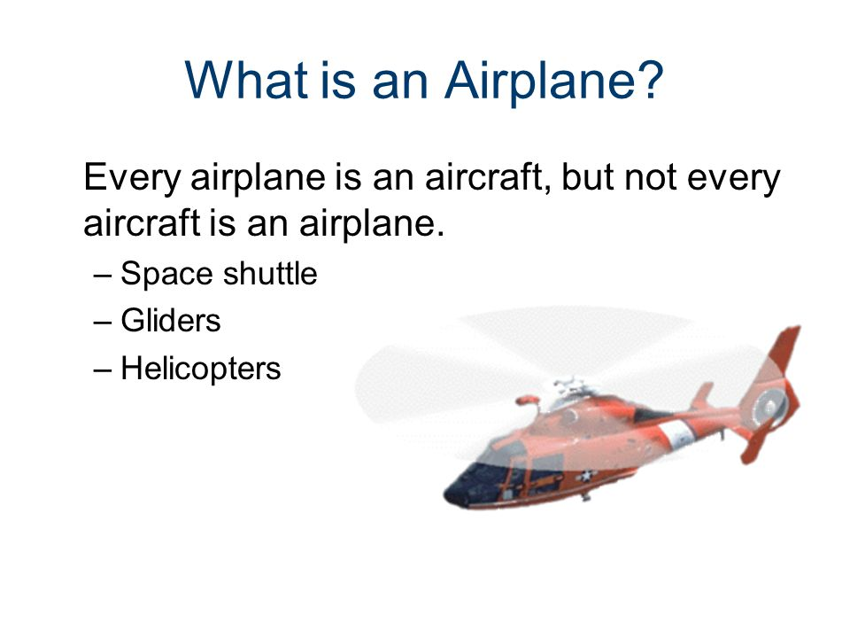 Parts of an Aircraft Gateway To Technology® Unit 4– Lesson 4.2– Aeronautics. What is an Airplane