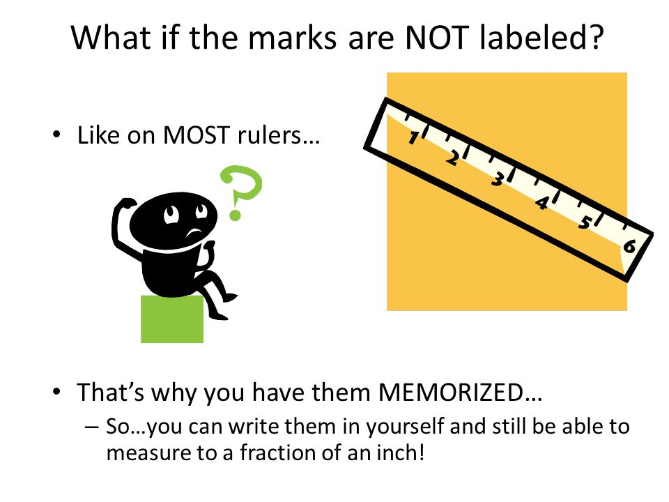 What if the marks are NOT labeled
