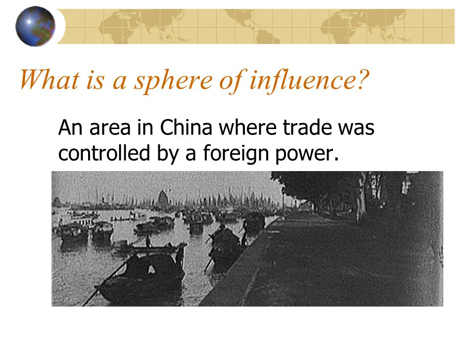 What is a sphere of influence