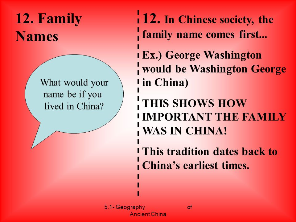 5.1- Geography of Ancient China