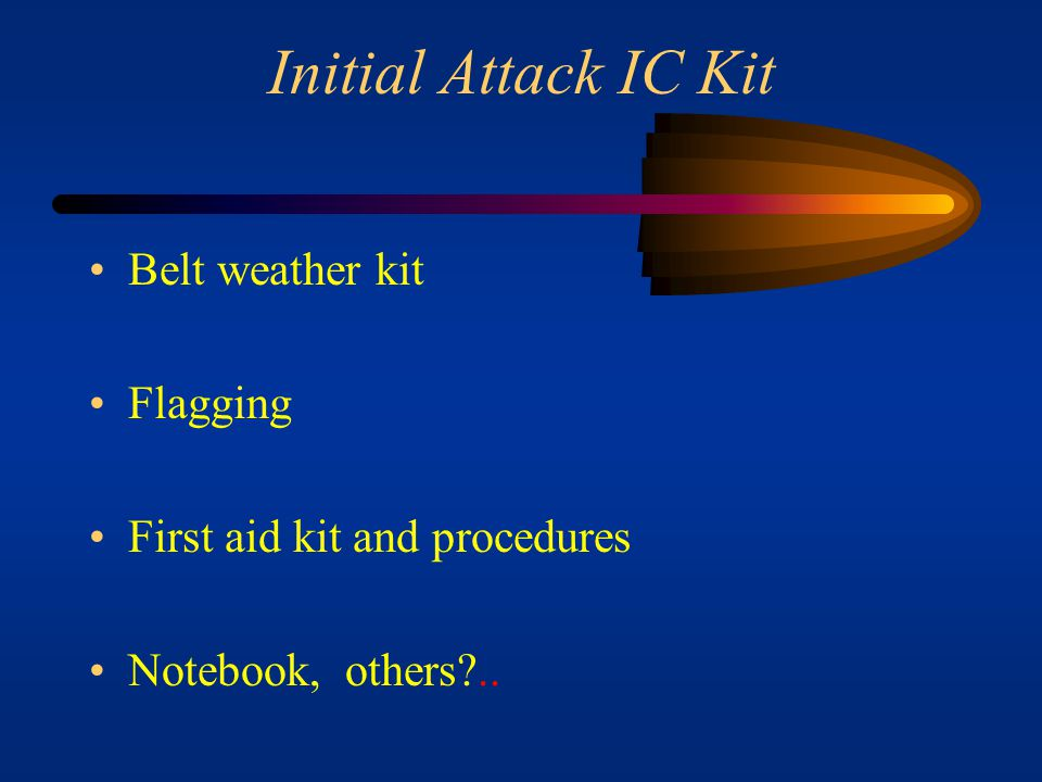 Initial Attack IC Kit Belt weather kit Flagging