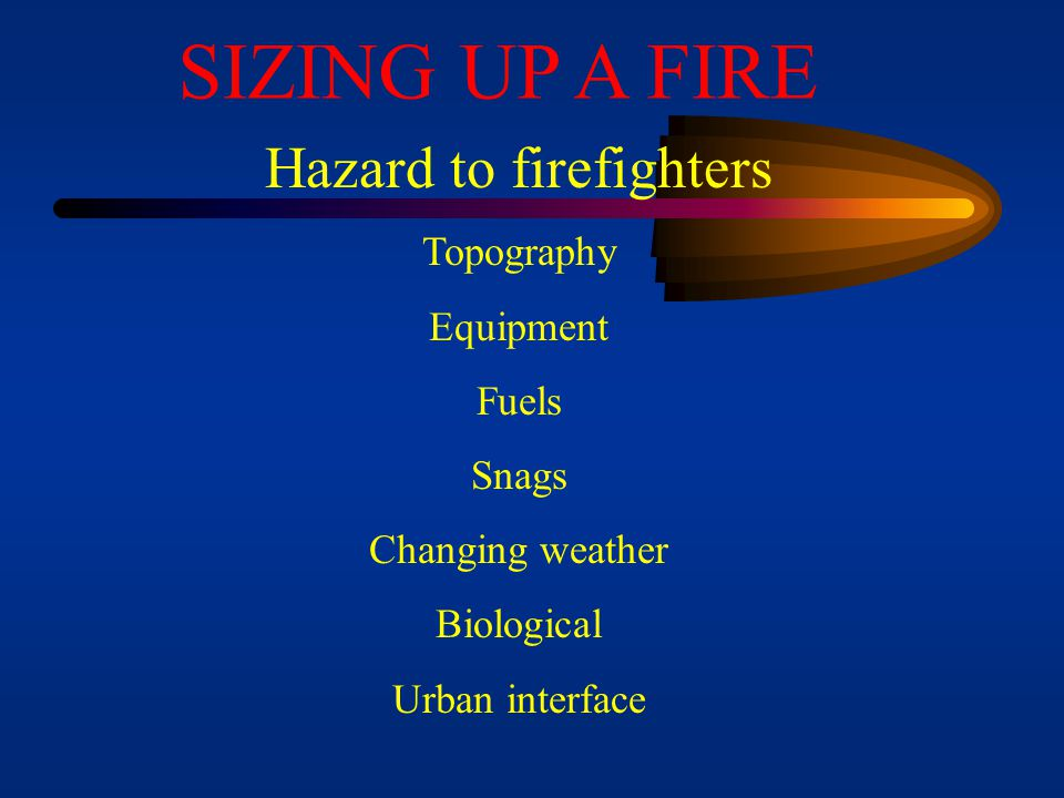 Hazard to firefighters
