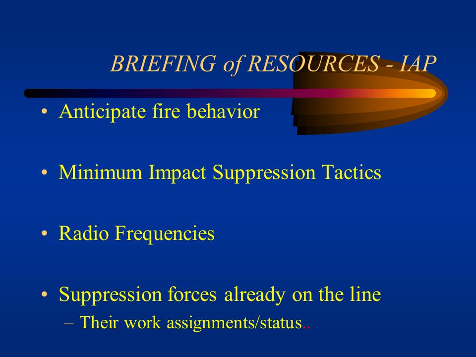 BRIEFING of RESOURCES - IAP